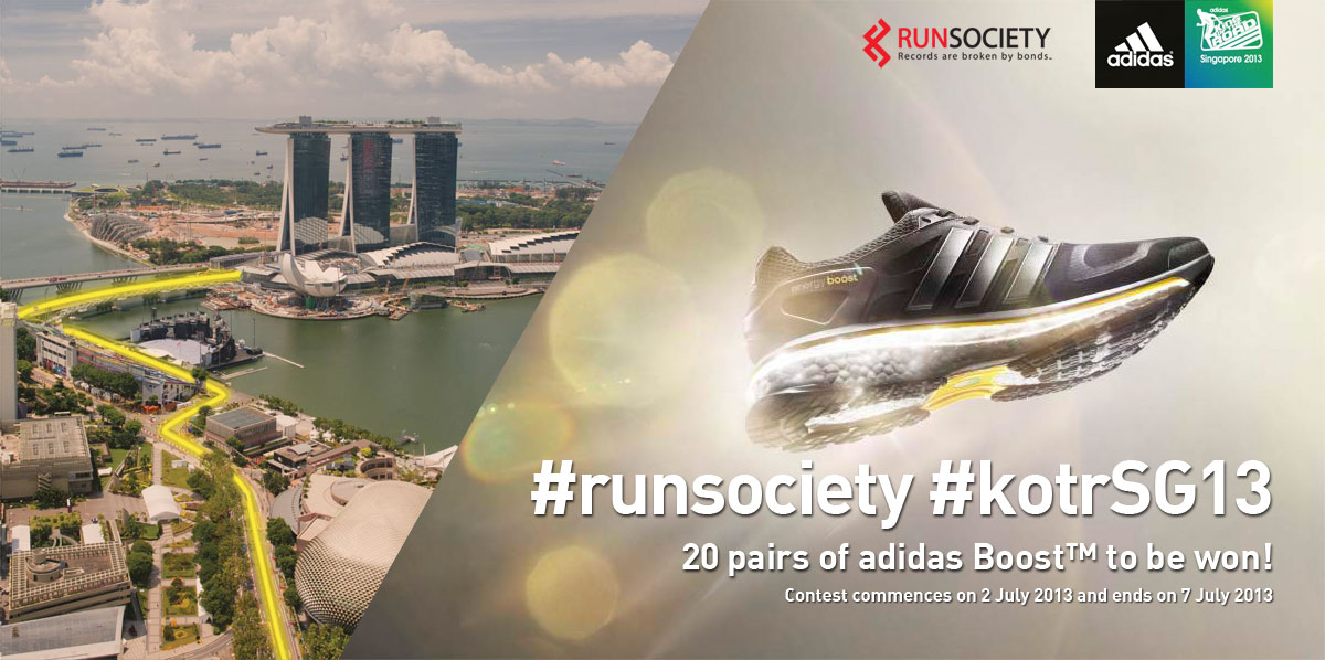 Sign up for KOTR Singapore 2013, and stand a chance to win adidas Boost™.