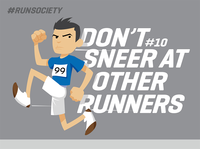Don't sneer at other runners