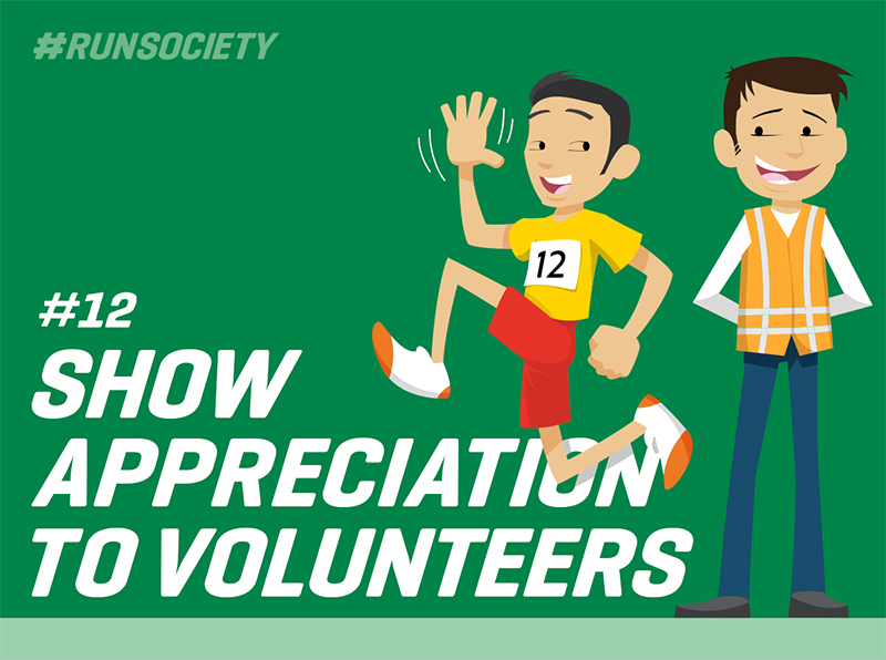 Show appreciation to volunteers