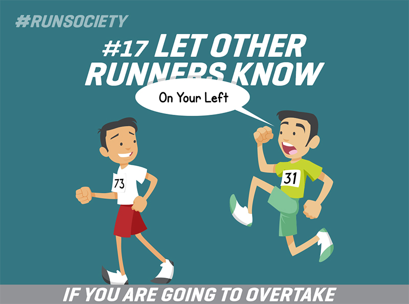 Let other runners know
