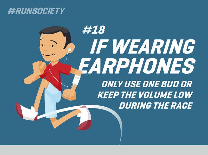 If wearing earphones