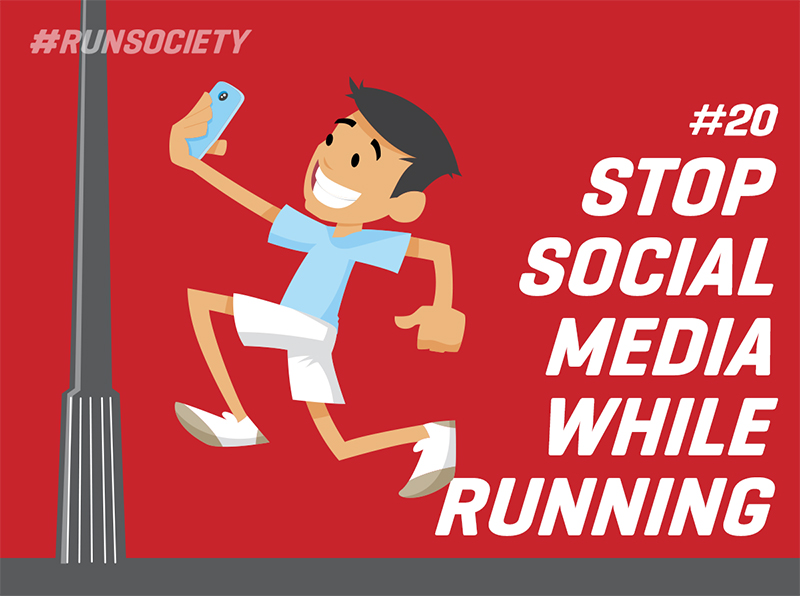 Stop social media while running