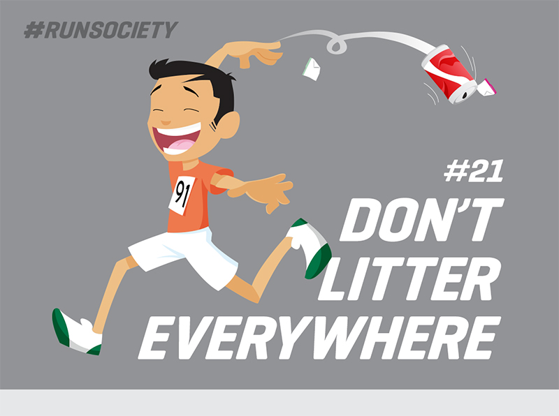 Don't litter everywhere