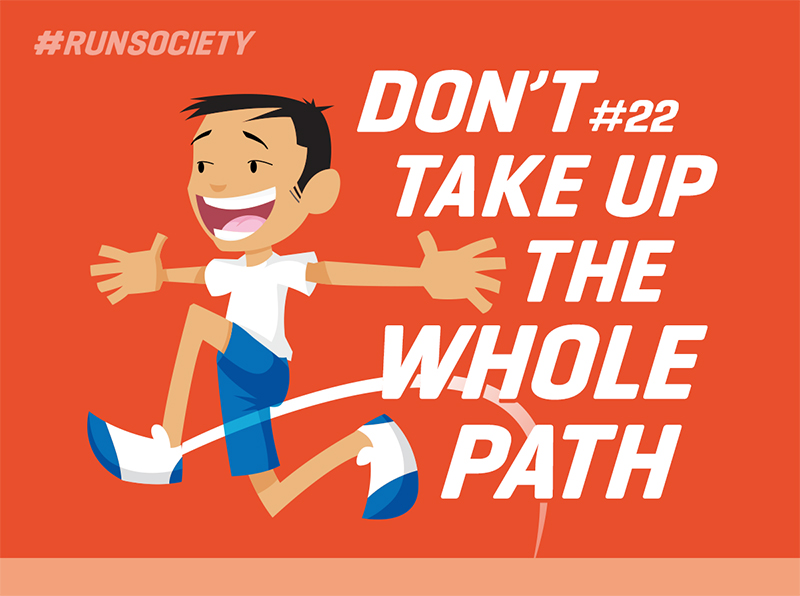 Don't take up the whole path