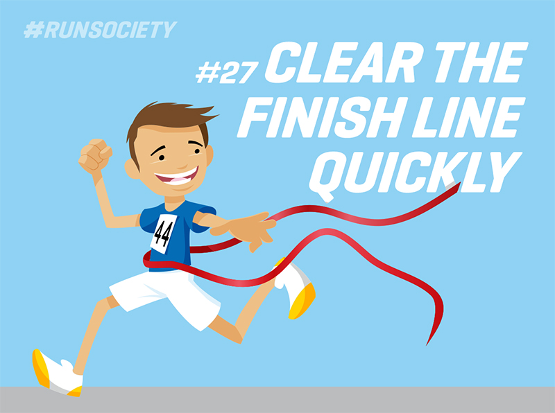 Clear the finished line quickly