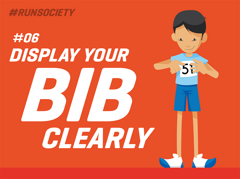 Display your bib clearly