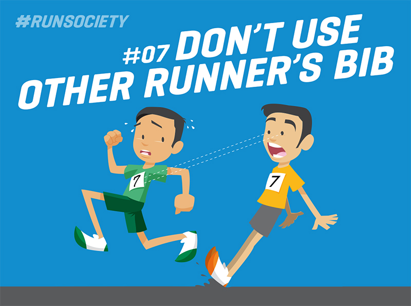 Don't use other runners bib