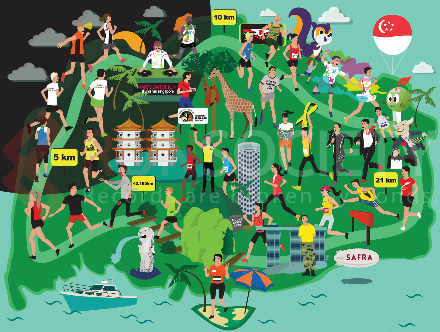Singapore Popular Running Events at a Glance