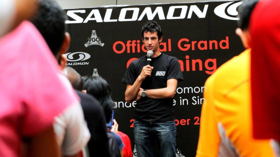 Kilian Jornet & Salomon Lock Arms in Milestone Opening