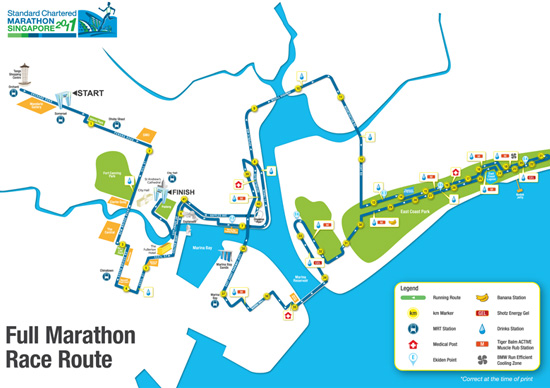 Full Marathon route