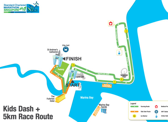 5km Fun Run & Kids Dash route