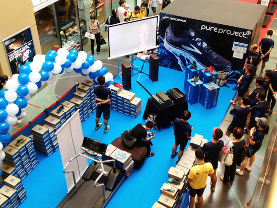Top view of the launch roadshow