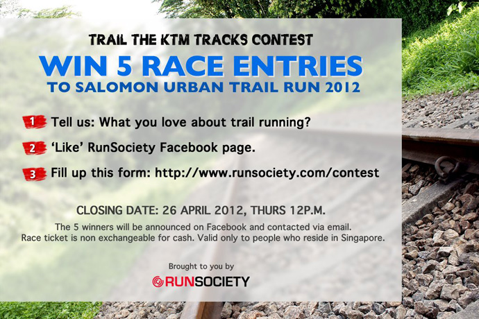 Win 5 Race Entries to Salomon Urban Trail Run 2012
