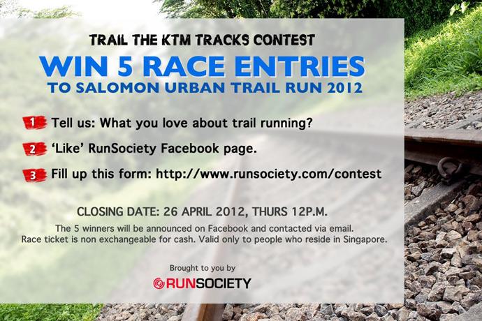 Win 5 Race Entries to Salomon Urban Trail Run 2012