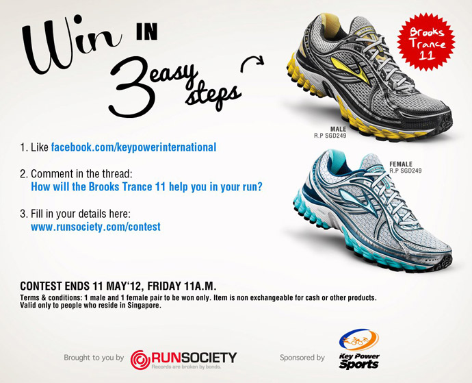 Win a Pair of Brooks Trance 11