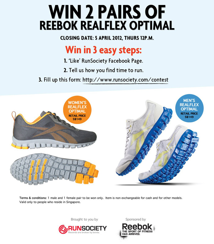 2ecf8edd76af Win 2 Pairs of Reebok RealFlex Optimal