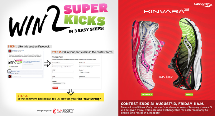 Saucony Kinvara 3: Win 2 Super Kicks