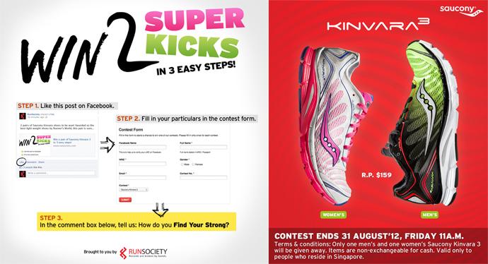 Saucony Kinvara 3: Win 2 Super Kicks