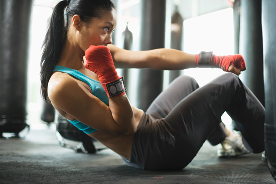 Kickboxing Builds Strong Core Muscles That Help You Run Better