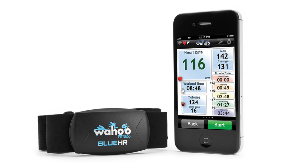 Wahoo Blue HR Heart Rate Strap for iPhone