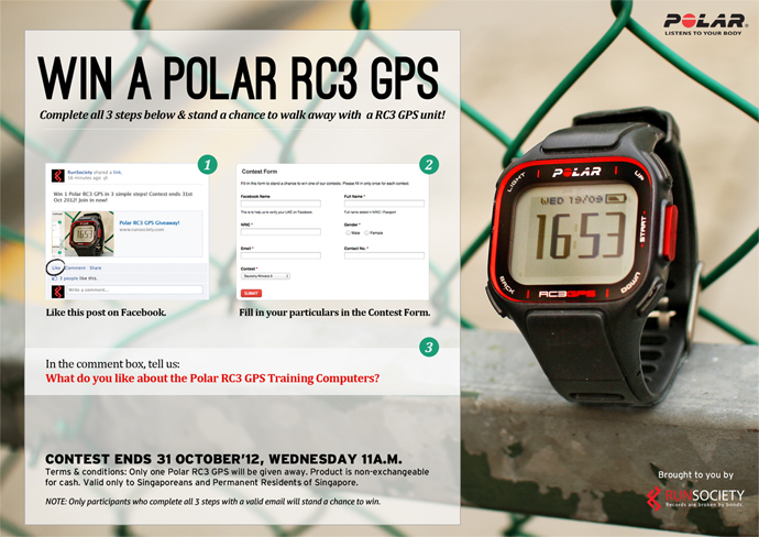 Win a Polar RC3 GPS