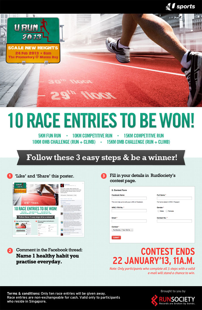 U Run 2013: Win 10 Race Entries