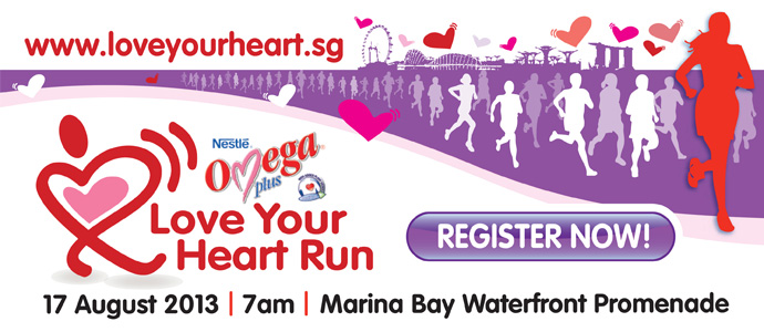 NESTLÉ® OMEGA PLUS® ACTICOL® Love Your Heart Run 2013