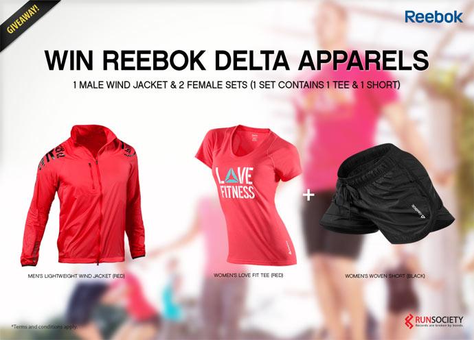 Win Reebok Delta Apparels