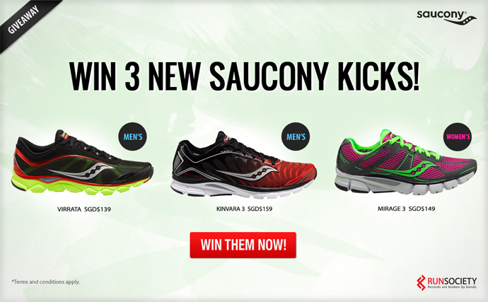 Win 3 pairs of Saucony Natural Motion Series & Flex the Laws of Nature