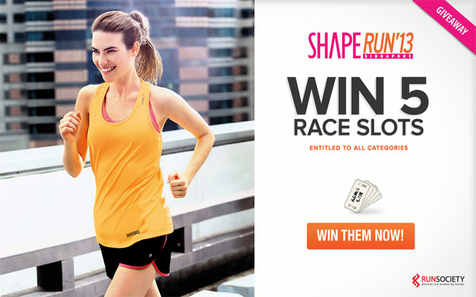 Win 5 Entries to Shape Run 2013