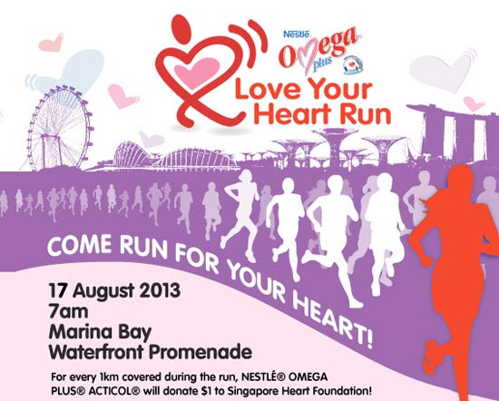 NESTLE® OMEGA PLUS® ACTICOL® Love Your Heart Run 2013 Launches to Increase Hearh Health Awareness