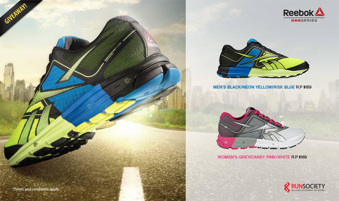 Win 2 pairs of Reebok One Series shoes!