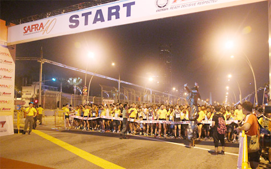 An Enhanced Experience to Stengthen Bonds Among Nsmen and their Families at Safra Singapore Bay Run & Army Half Marathon 2013