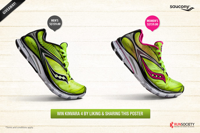 Win 2 Pairs of Saucony Kinvara 4 Shoes!