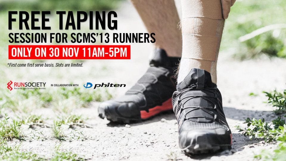 Free PHITEN Taping Sessions For RunSociety's Readers