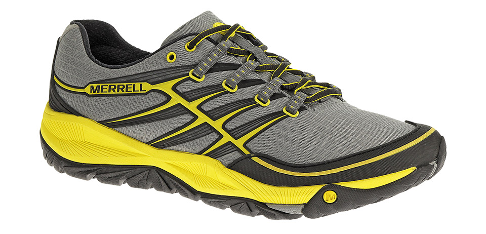 Merrell AllOut Rush, Wild Dove/Yellow; S$149