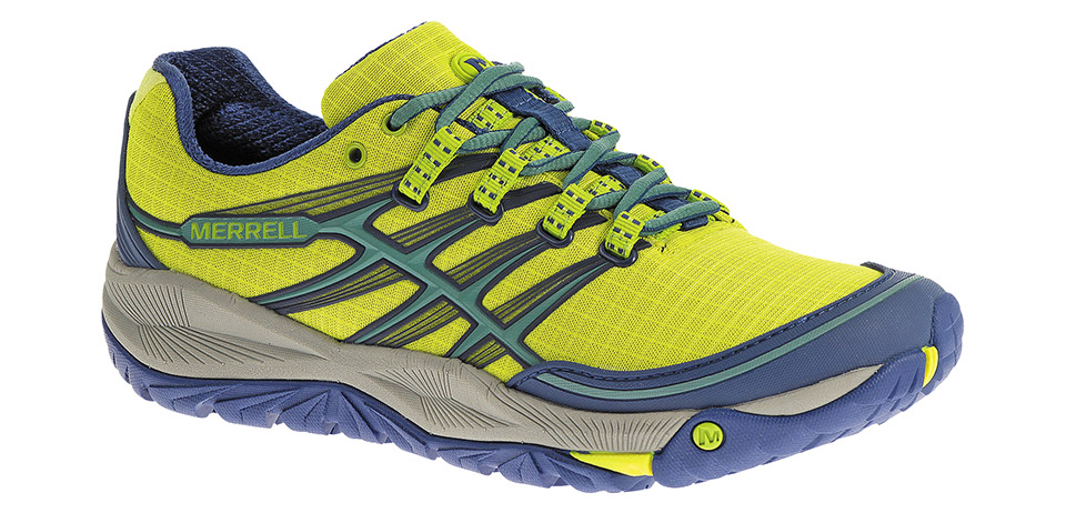 Merrell AllOut Rush, High Viz/Blue (women's); S$149