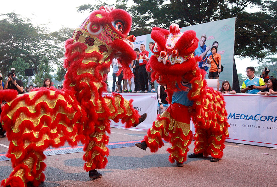 Lion Dance performance before the flag off