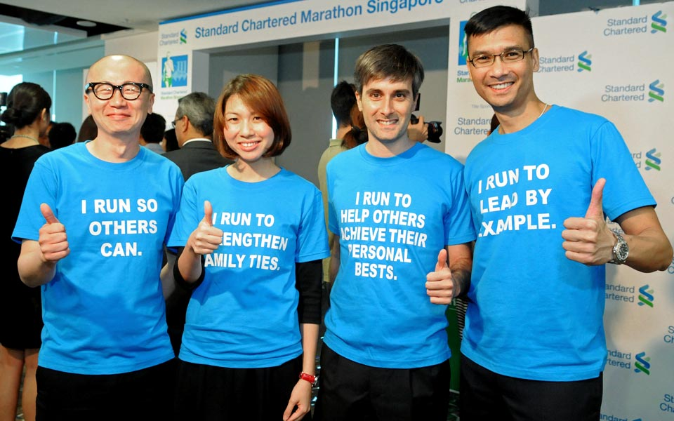 Standard Chartered Marathon 2014: S$10.5 Million In Funding Over 3 Years For The Biggest Marathon In Singapore