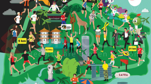 Infographic: Singapore Running Events at a Glance