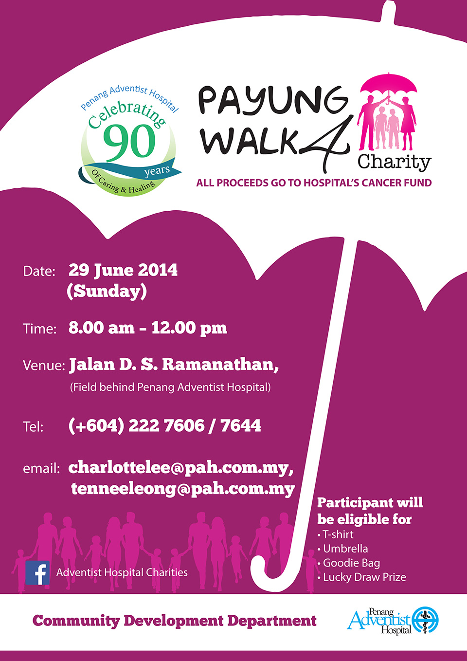 Payung Walk 4 Charity 2014: Show Your Support & Raise Funds for Cancer Patients