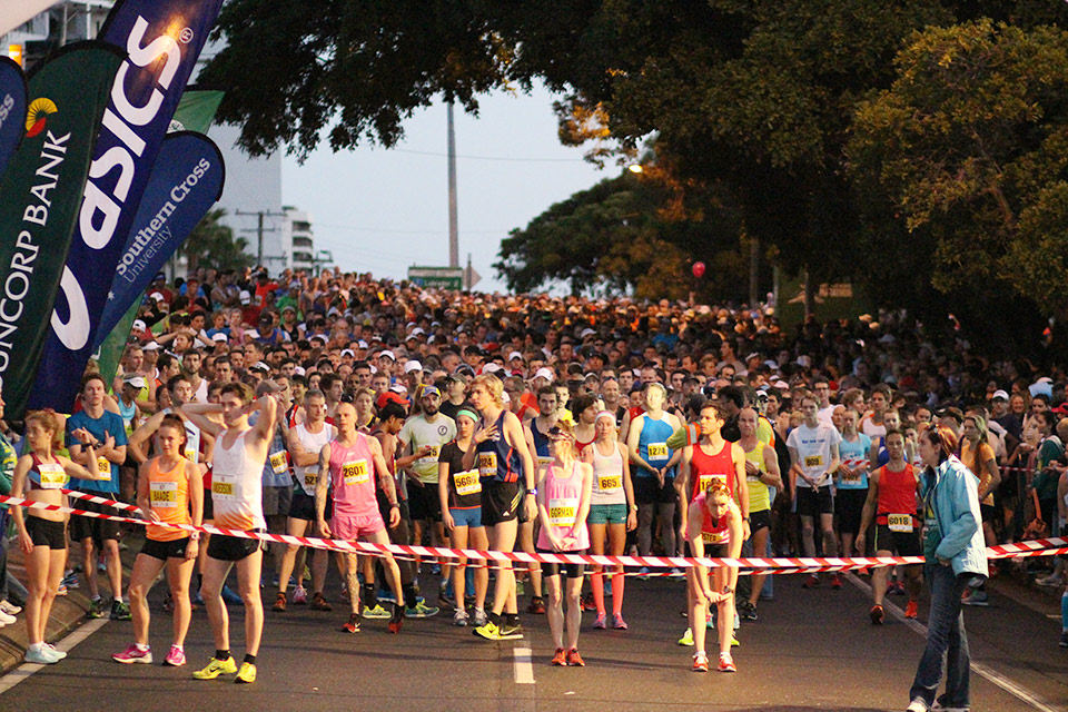 Start line of the Southern Cross University 10km Run.