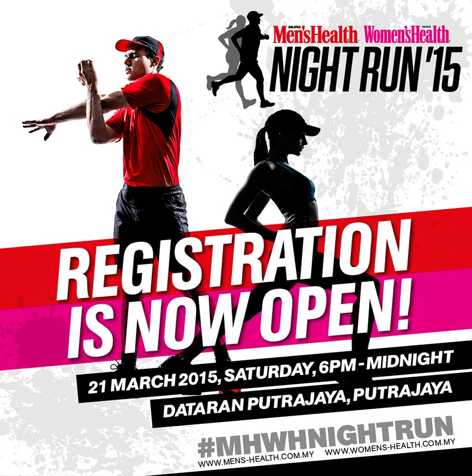 First-Ever Men's Health & Women's Health Night Run 2015 Kickstart in Malaysia