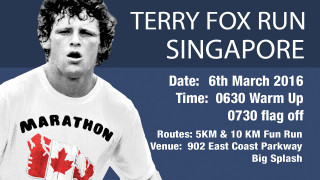 Terry Fox Run Singapore 2016