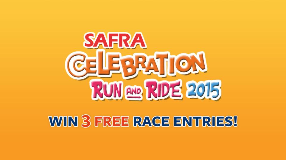 3 SAFRA Celebration Run & Ride 2015 Race Entries Up For Grabs!