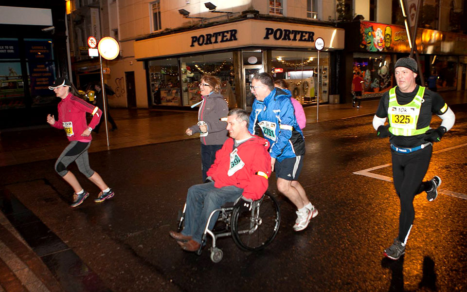 Run in the Dark for a Bright Future for Paralysis Patients