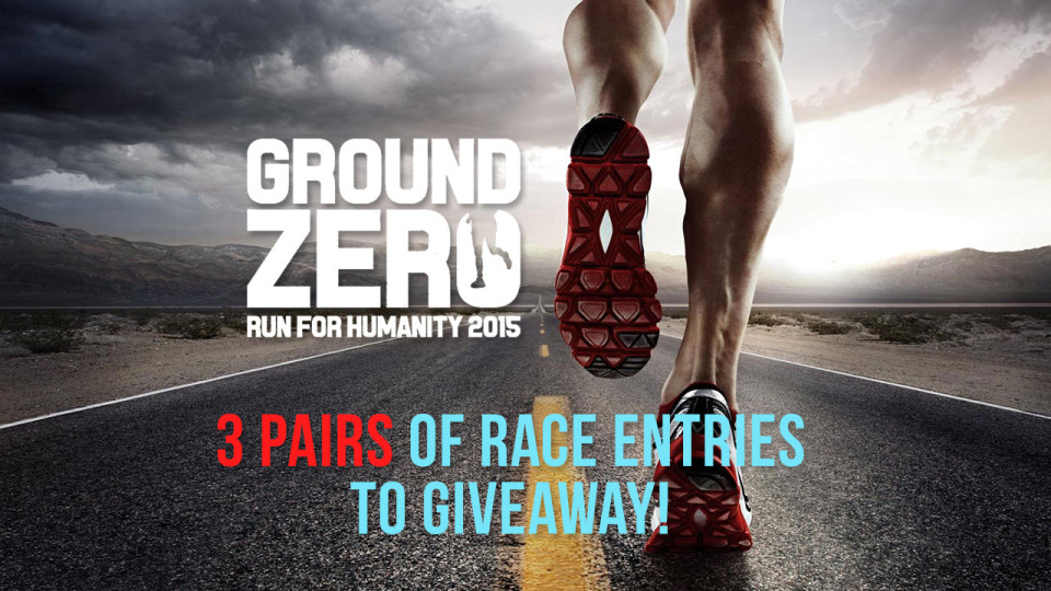 Ground Zero – Run for Humanity 2015: Win 3 Pairs of Race Entries!