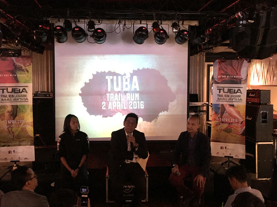 (From Left to Right) Liew Wei Yong, Race Director, Tan Sri Khalid Ramli, Chief Executive Officer of Langkawi Development Authority (LADA) and Iskandar Shahril, Business Development Director of E-Plus Entertainment Productions at the Tuba Trail Run press conference.