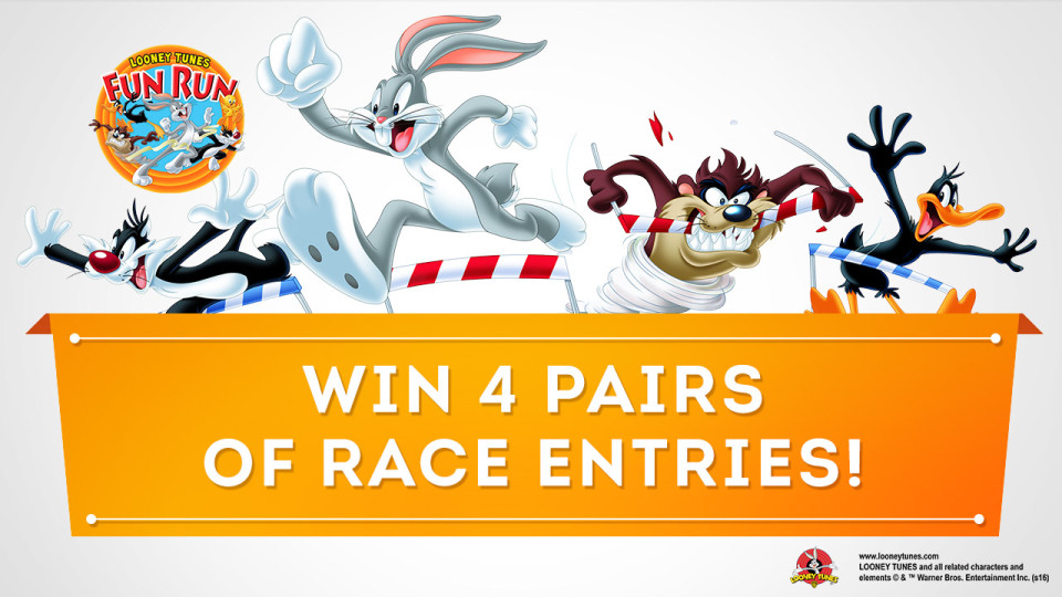 Looney Tunes Fun Run 2016: Win 4 Pairs of Race Entries!