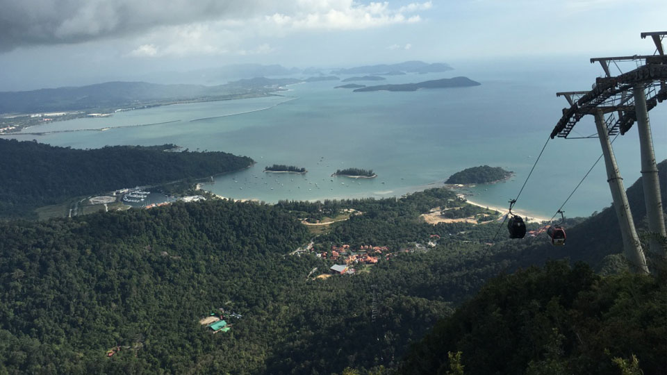 View of Langkawi Cable Car from the Top Station